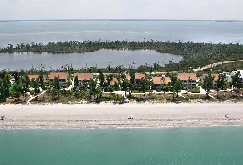 Beach Cottages South Seas Resort Aerial 2