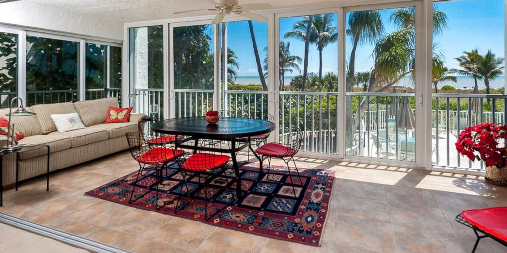 Sanibel condo patio